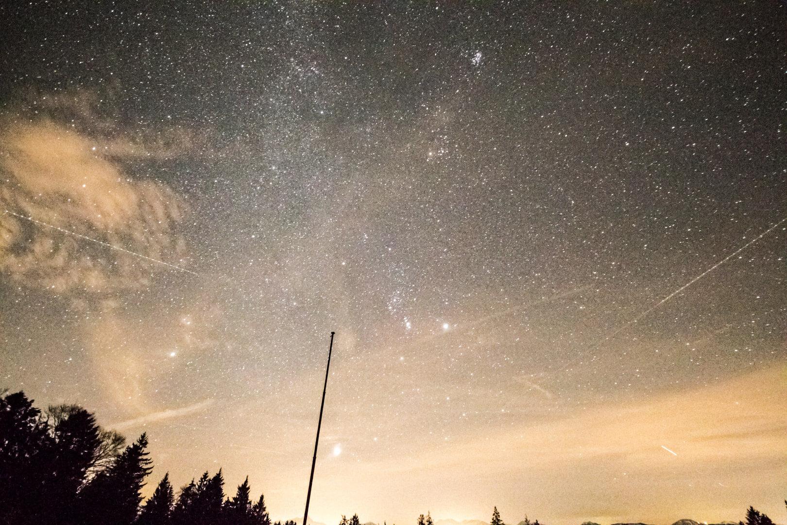 Sternschuppenregen der Geminiden