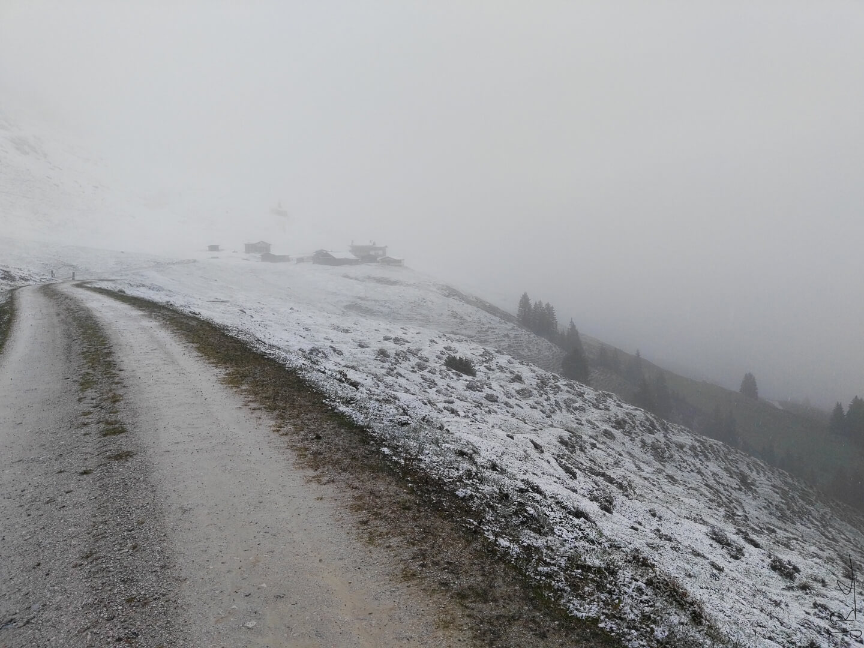 Winterlandschaft bei Ankunft