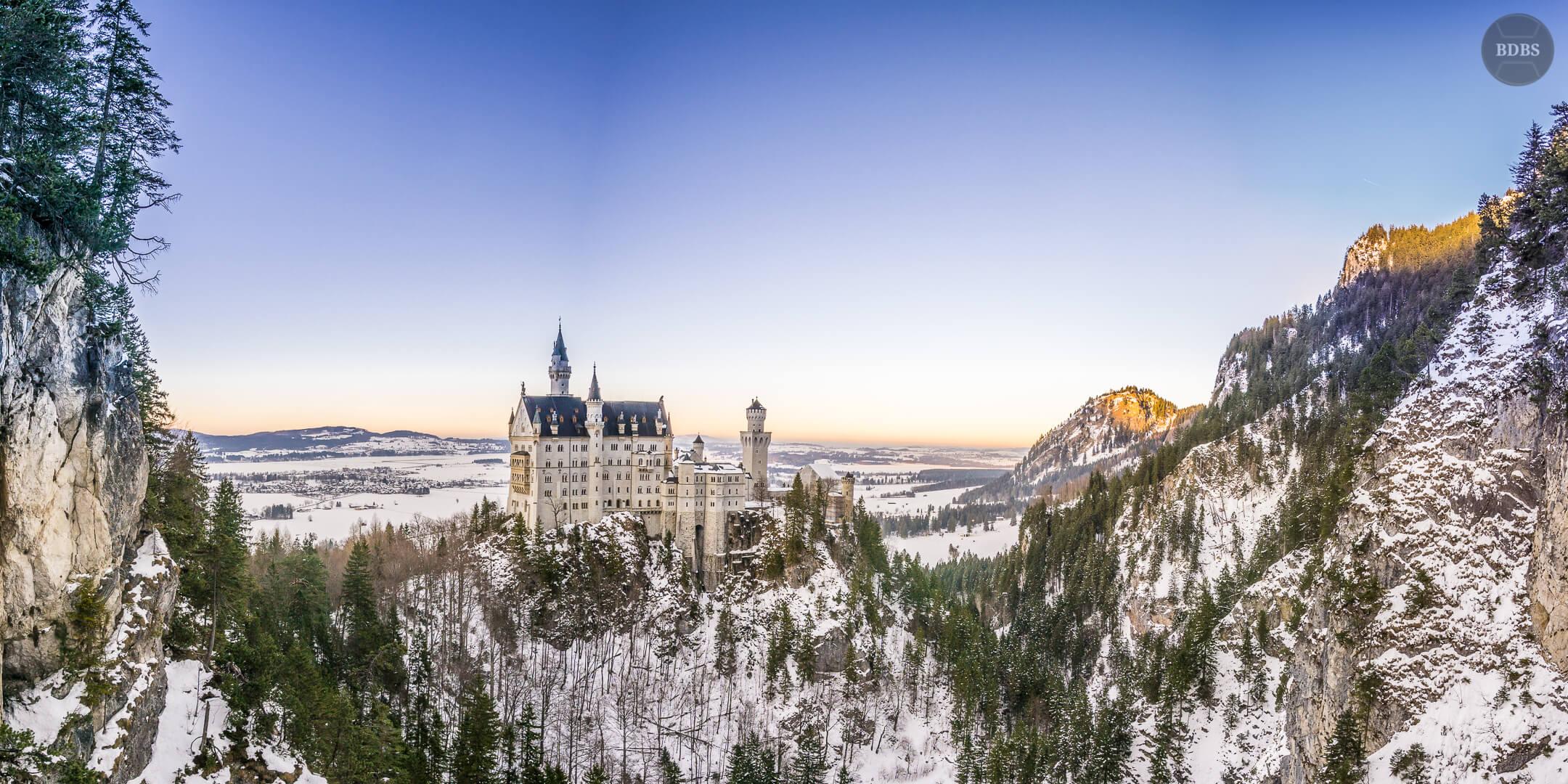 Schloss Neuschwanstein Panorama (ISO 100 - f/8 - 1/60 Sek)
