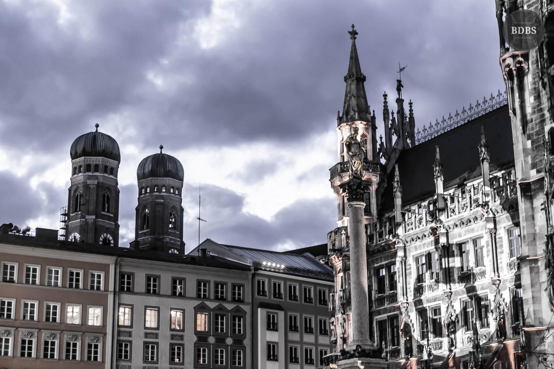 Kunstinstalation am Rathaus München