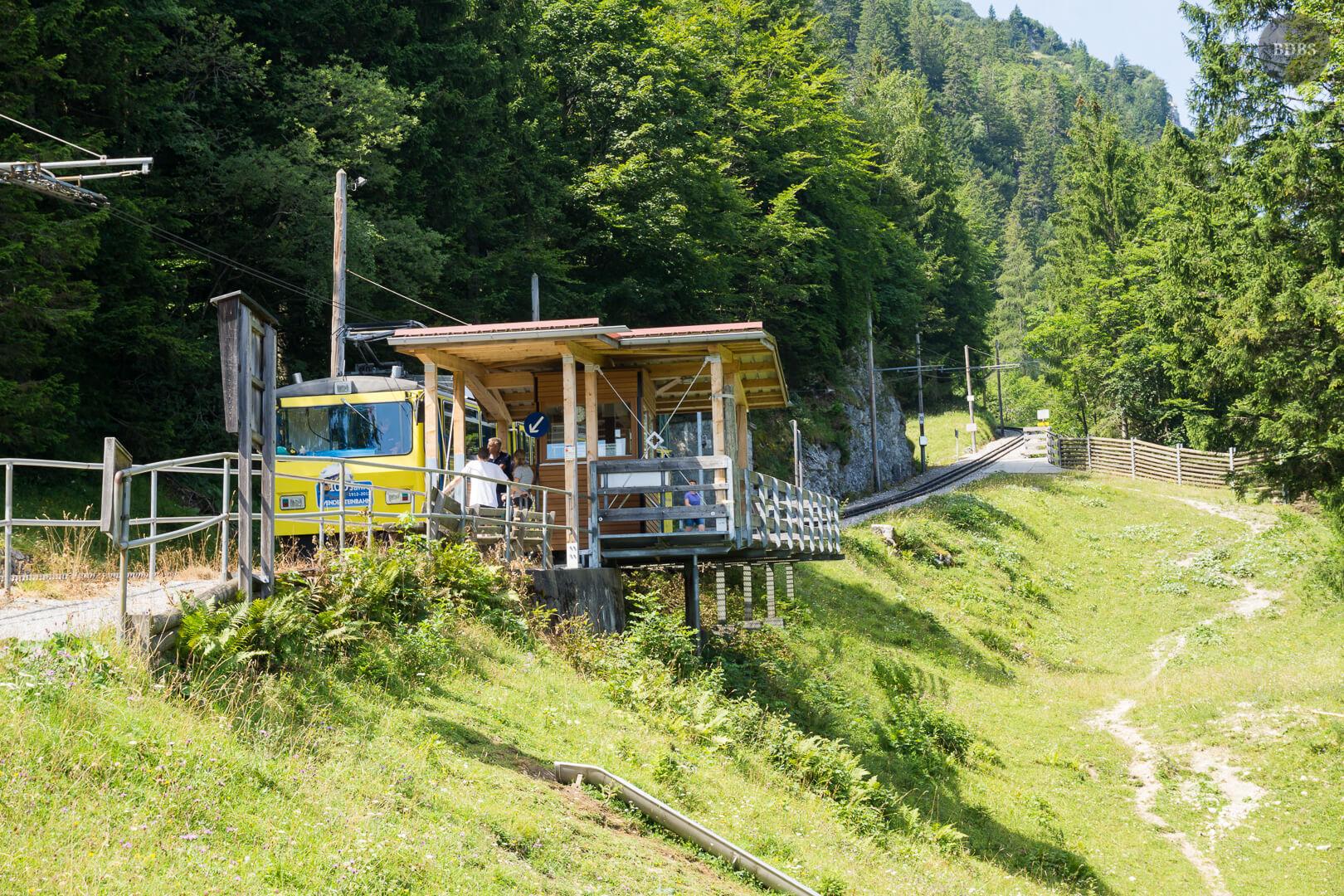 Mitteralm, Wendelsteinbahn Haltestelle - MTB-Tour